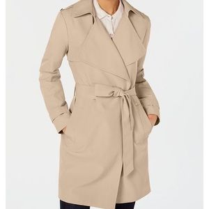 MICHAEL KORS Belted Wrap Trench Coat!